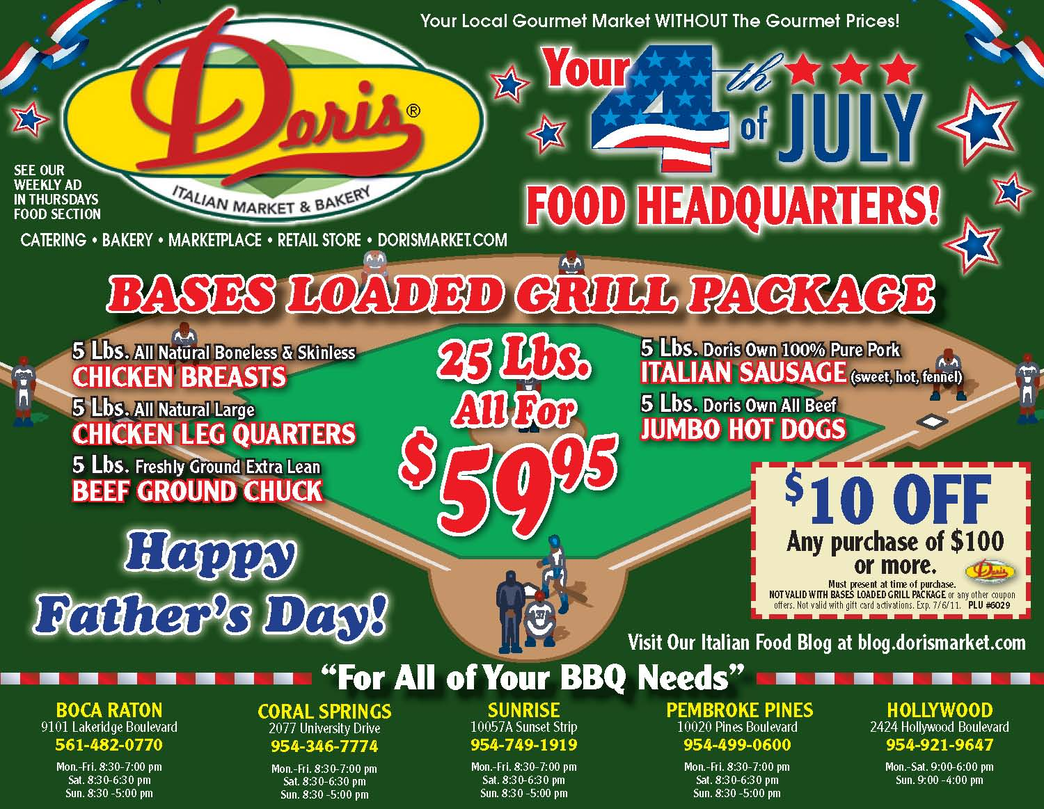at the table with doris italian market 4th of july bbq specials