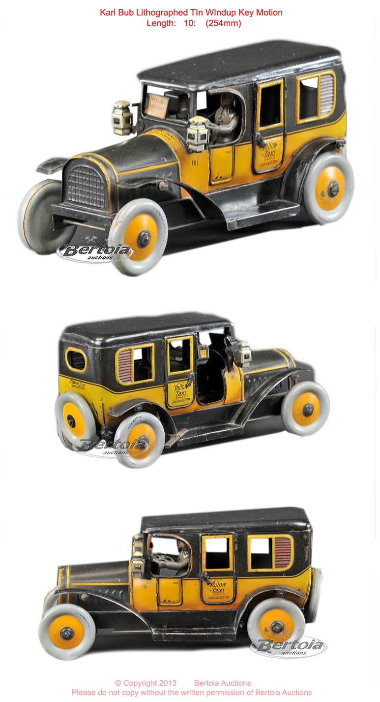 "Old Antique Toys: Karl Bub Lithographed Tin ""Automobiles"""