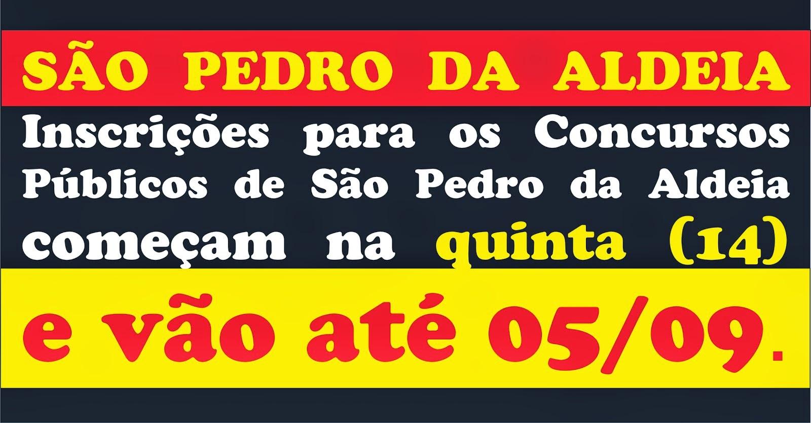 Inscrições para Concurso Público continuam em São Pedro da Aldeia