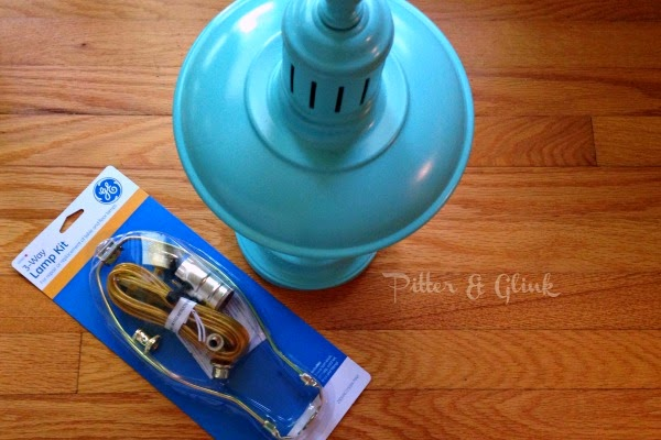 Use a lamp kit to rewire an old lamp. pitterandglink.com