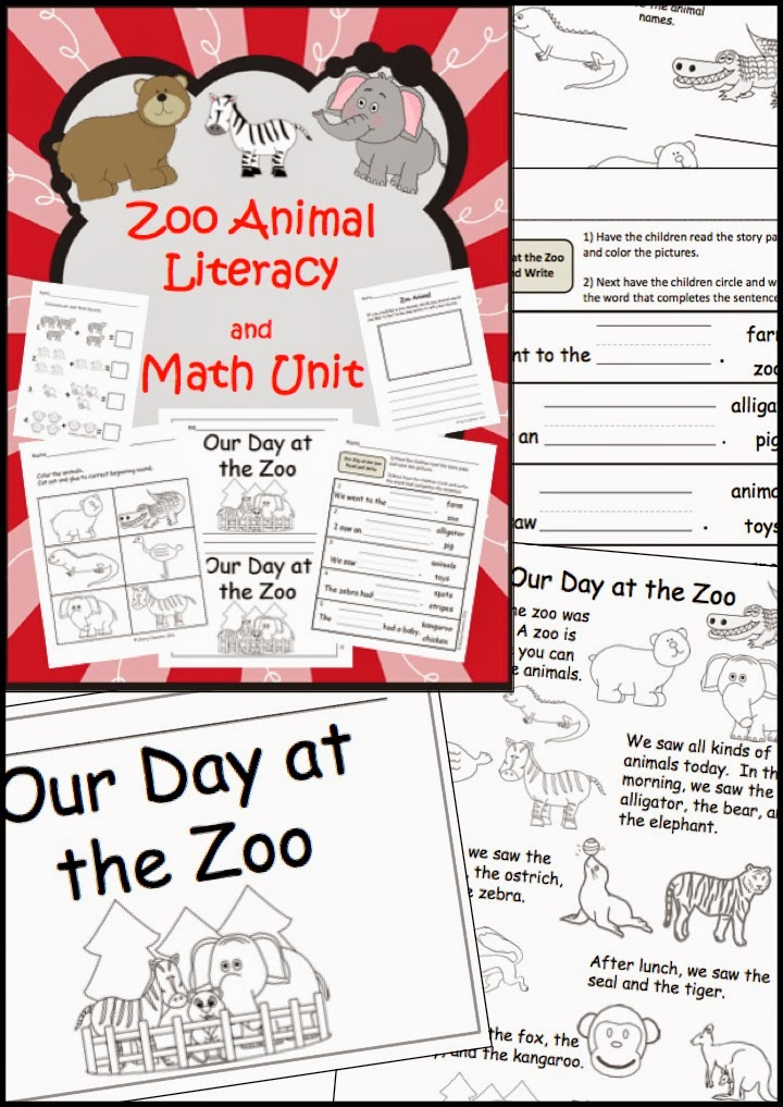 http://www.teacherspayteachers.com/Product/Zoo-Animal-Literacy-and-Math-Unit-1033001
