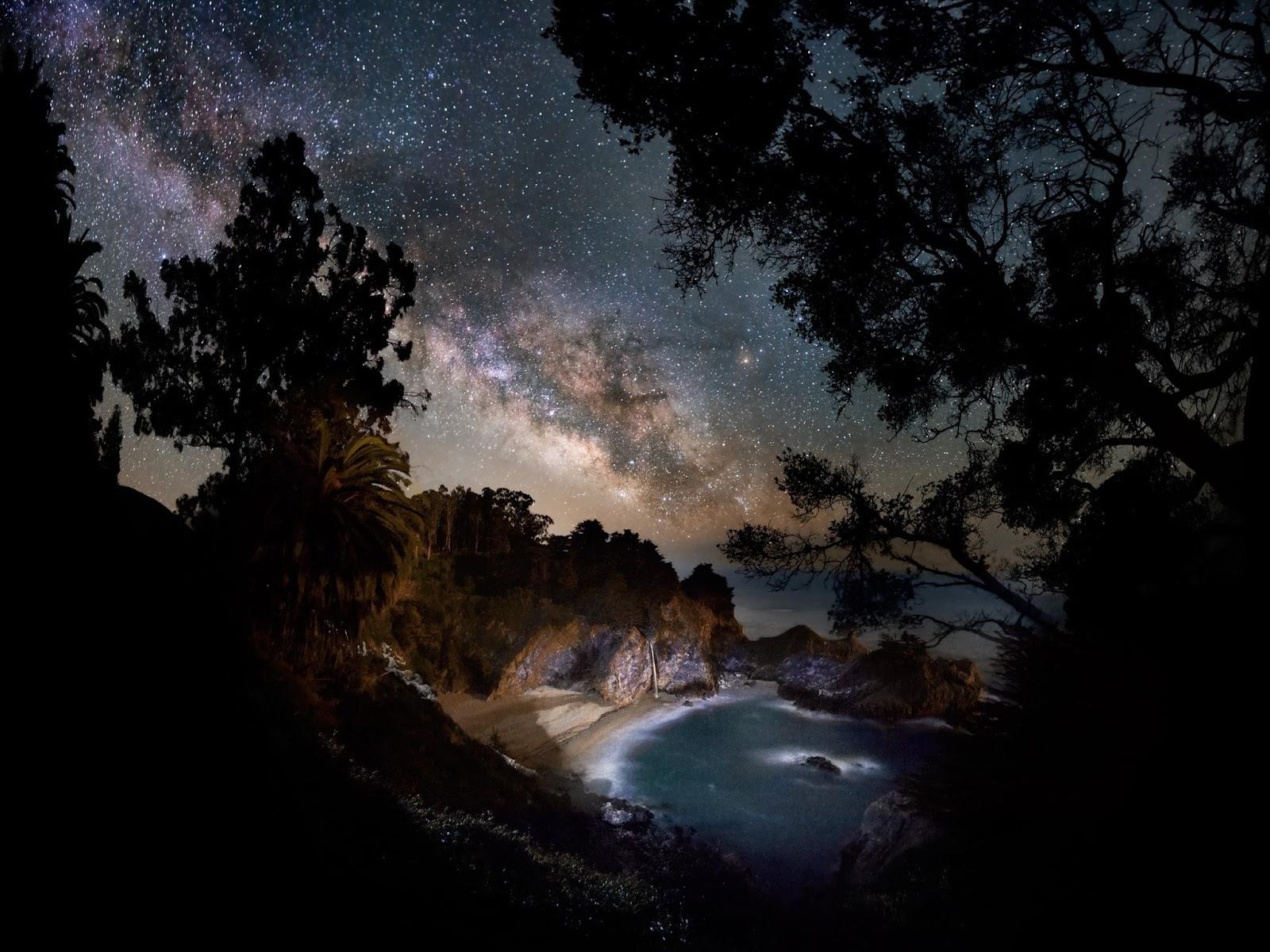 Milky Way Galaxy Big Sur coast