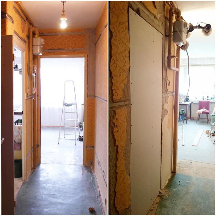 jak zakleić drzwi wewnętrzne,zabudowy z rigipsu,jak wyremontowac kawalerkę, zrób to sam, tanie szybki remont jak to możliwe,gładź szpachlowa, blog remont DIY lifestyle,majsterkowanie,pomysły na remont