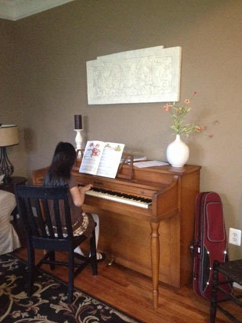 The Burlap Hill New Piano Wall