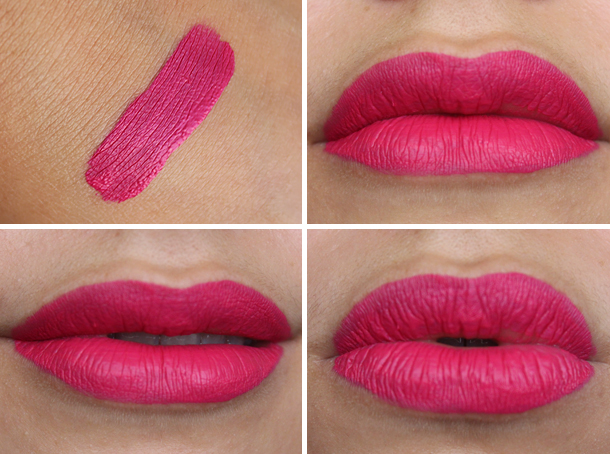 wetnwild megalast liquid lipstick back to the fuchsia swatch