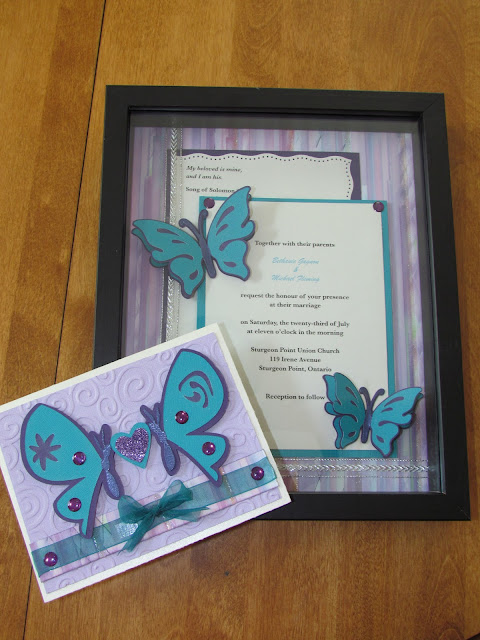 Wedding Invitation Shadow Box