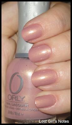 orly blushalicious nude nail polish