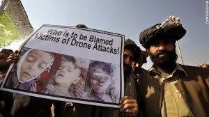 Afghans protesting drone attacks