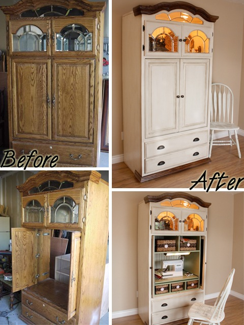 Gone Thrifting: Upcycled Entertainment Centers and Armoires