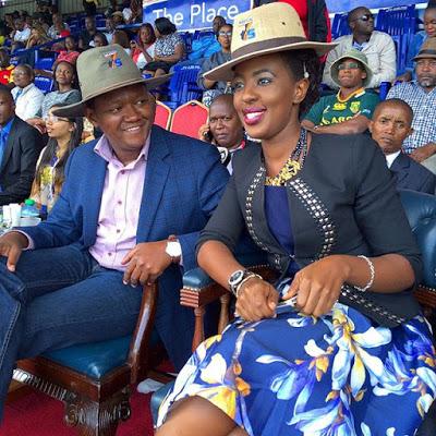 machakos governor dr. alfred mutua with his wife lilian nganga