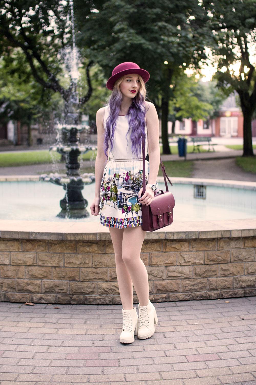 fioletowe włosy ombre blog
