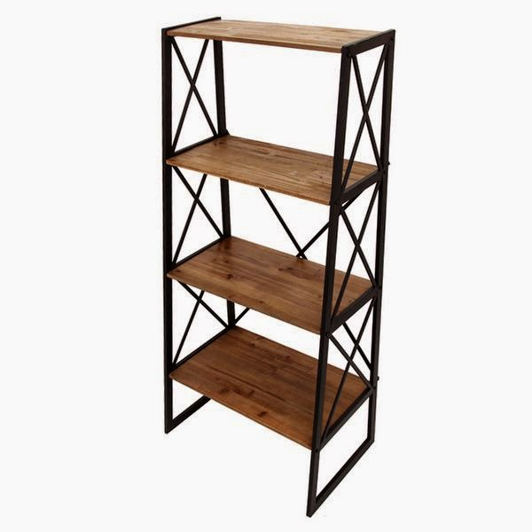 Mueble estantes forja
