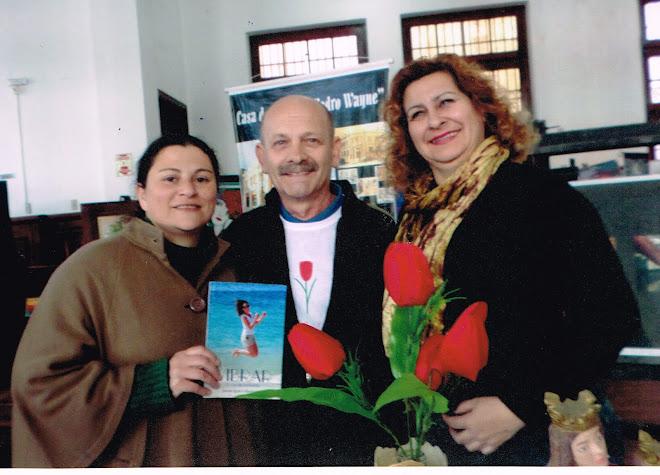 Manoel com Faustina Campos e Magda Leite