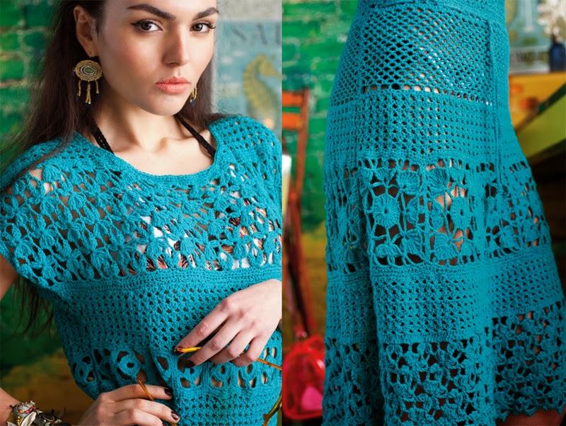 Мир вязания платья крючок 159