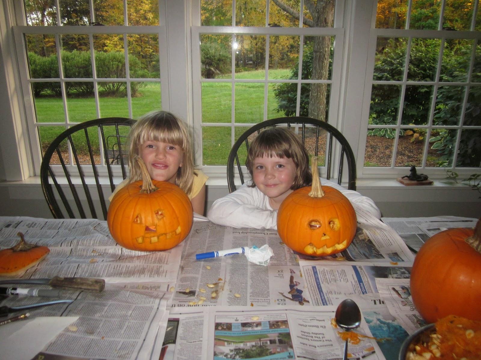 carving pumpkins at home