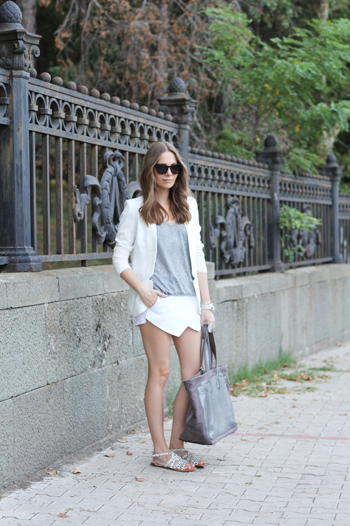 Fashion And Style White Gray