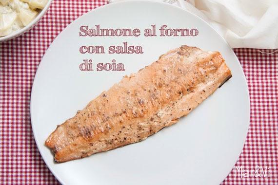 Ricetta salmone al forno con salsa di soia e zenzero