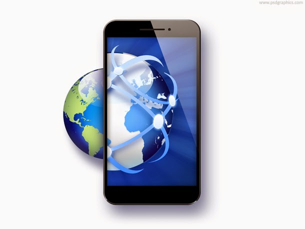 Global Business Smartphone Icon PSD