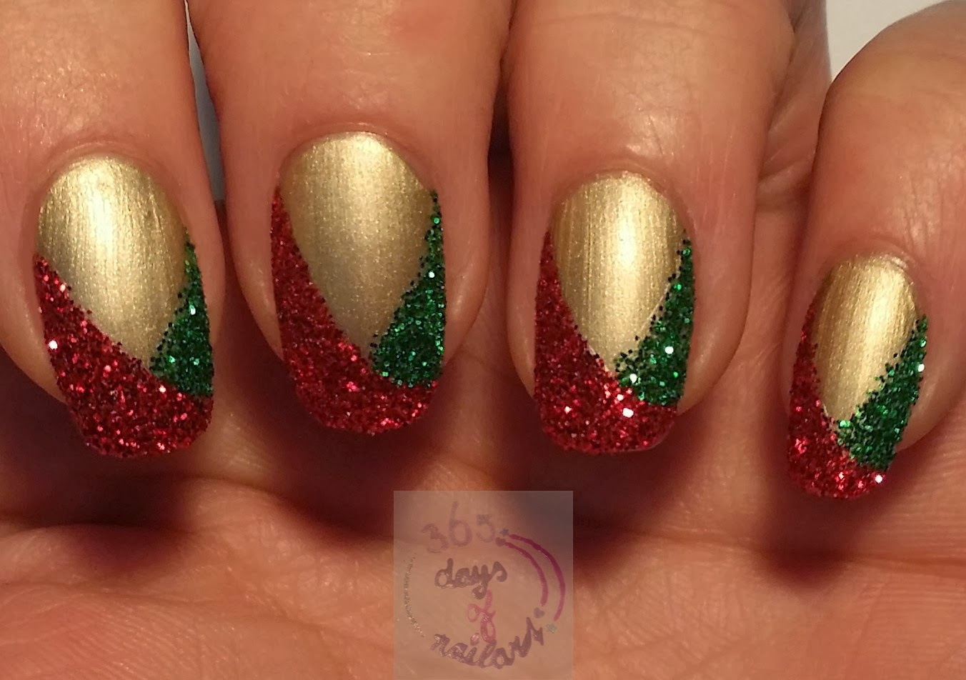 365 days of nail art day 349 easy christmas nails