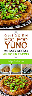 Chicken Egg Foo Yung with Mushrooms and Green Onions [found on KalynsKitchen.com]