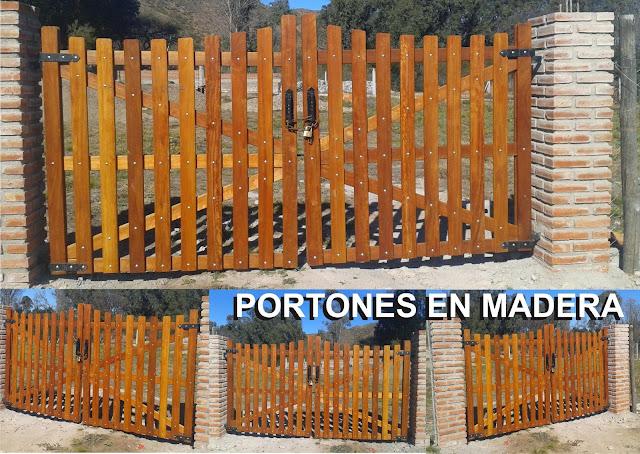 Articulos rurales portones y tranqueras for Puertas y portones de madera