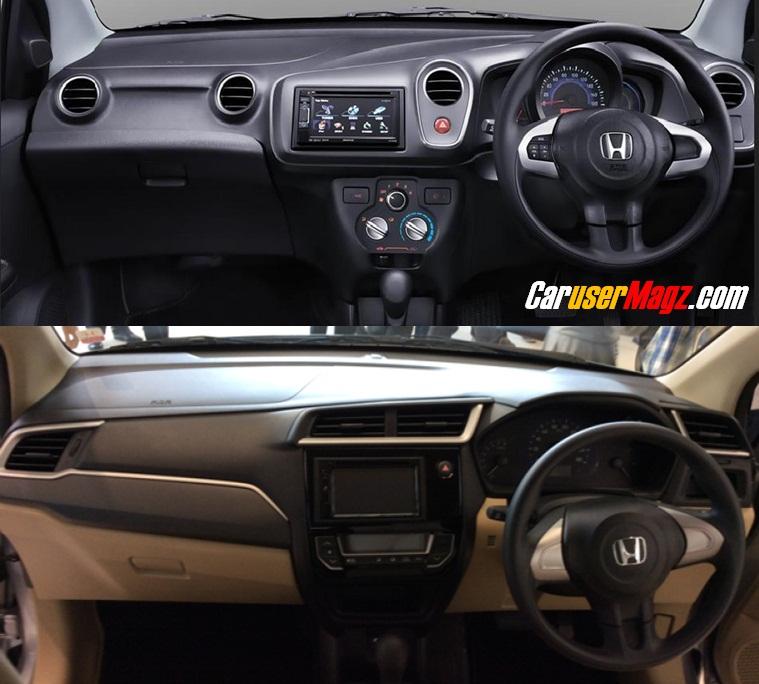 Dashboards of 2016 Honda Mobilio Facelift vs The Previous Mobilio