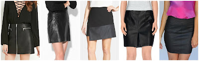 Forever 21 Faux Leather Zipped Skirt $19.90 more Forever 21 options here and here  Mango Outlet Decorative Stud Skirt $35.99 (regular $59.99) similar with zips  Vince Camuto Faux Leather Hem Wrap Skirt $53.29 (regular $89.00)   List Mini Skirt $59.00 (regular $73.00)  Myne Milo Mini Skirt $63.00 (regular $110.00)