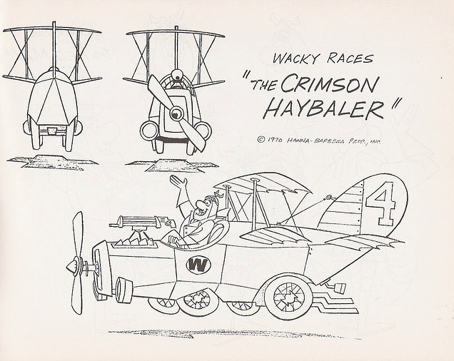 wacky races coloring pages - photo #29