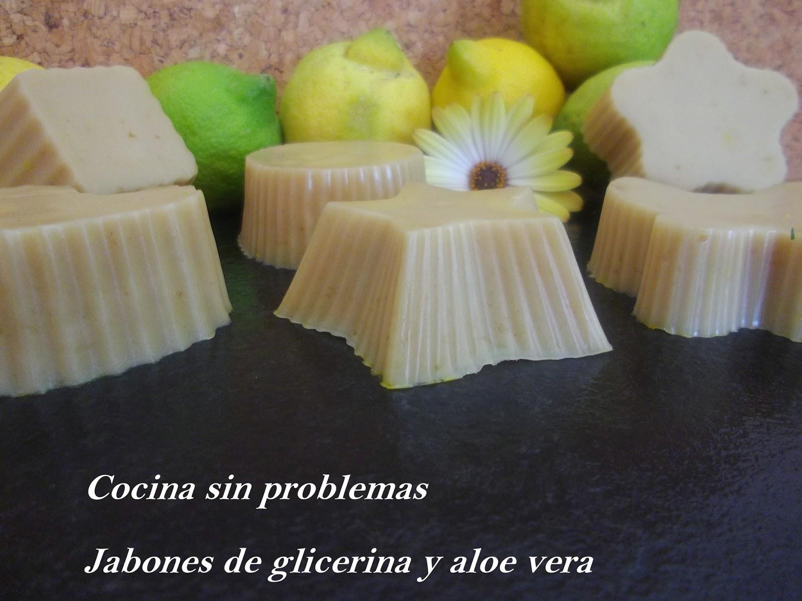 Cocina sin problemas jabones de glicerina y aloe vera - Como se hace el jabon de glicerina ...
