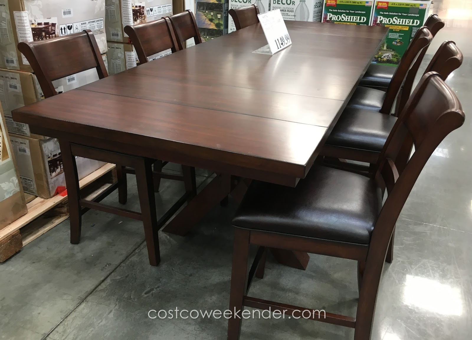 Hillsdale Furniture 9 Piece Counter Height Dining Set Costco