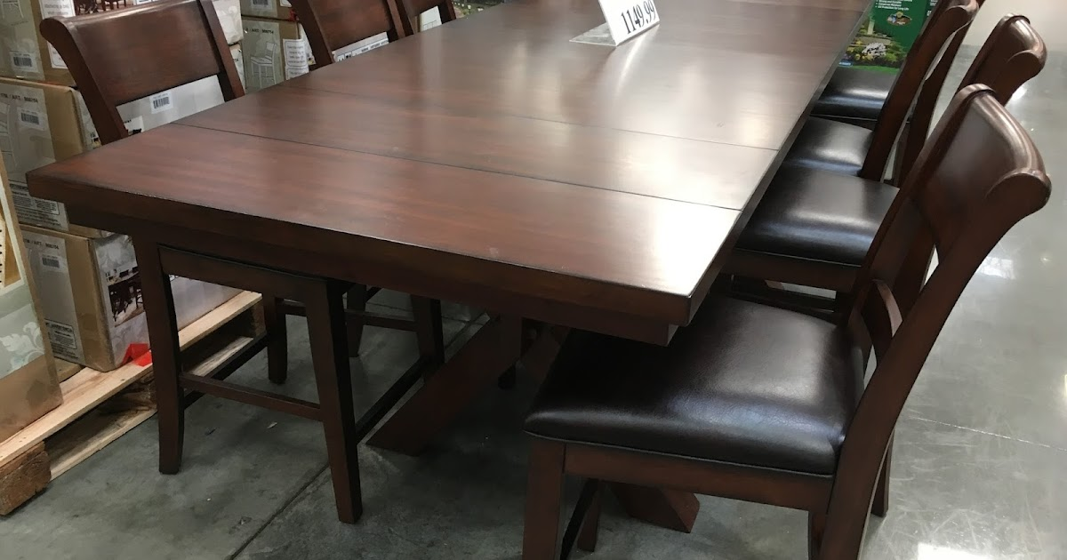 Hillsdale Furniture 9 Piece Counter Height Dining Set Costco Weekender