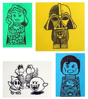 LEGO artwork Darth Vader