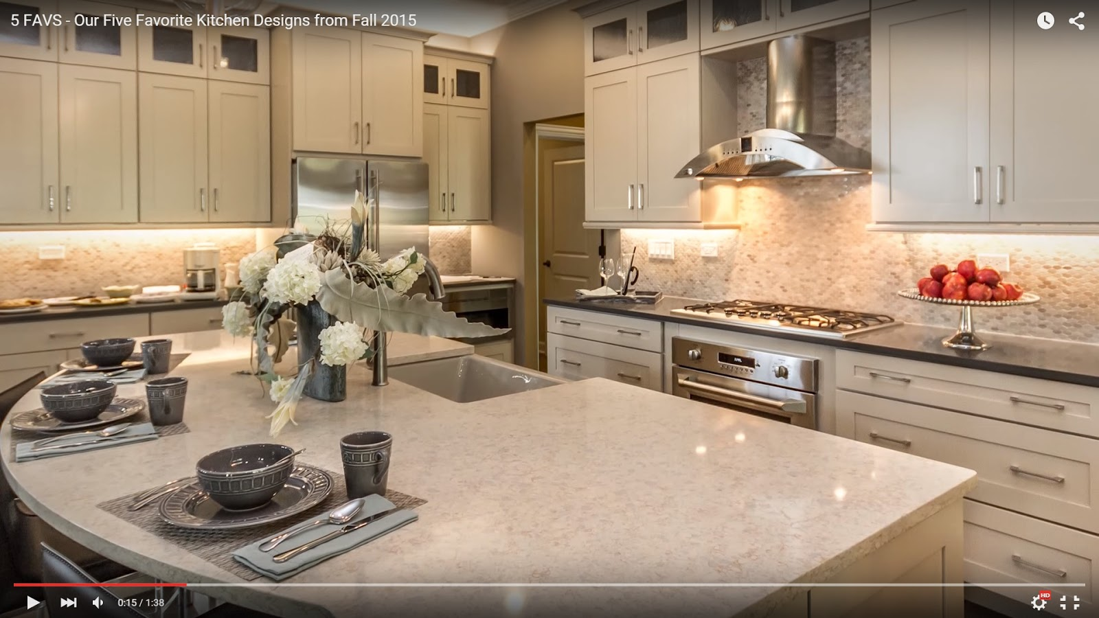 5 favs our five favorite kitchen designs from fall 2015 for Kitchen design ideas 2015