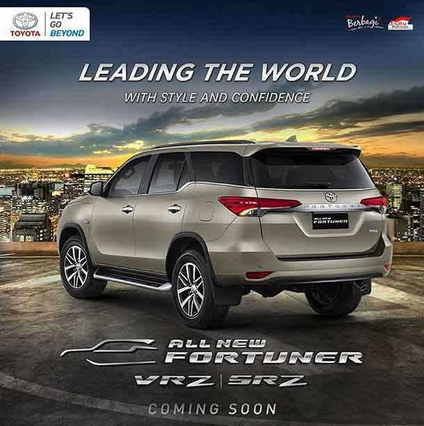 Siap Siap Launching Toyota All New Fortuner 22 Januari 2016