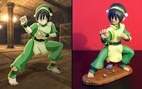 orme magiche toph last airbender manga action figure statuine personalizzate cartoni