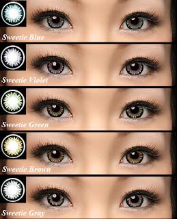 Lentes de contato coloridas: Fotos de olhos