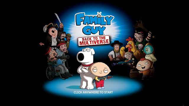 Family Guy Back to the multiverse title screen