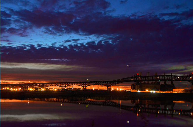 Sunset - Pulaski Skyway - by Rene. From www.nj.com