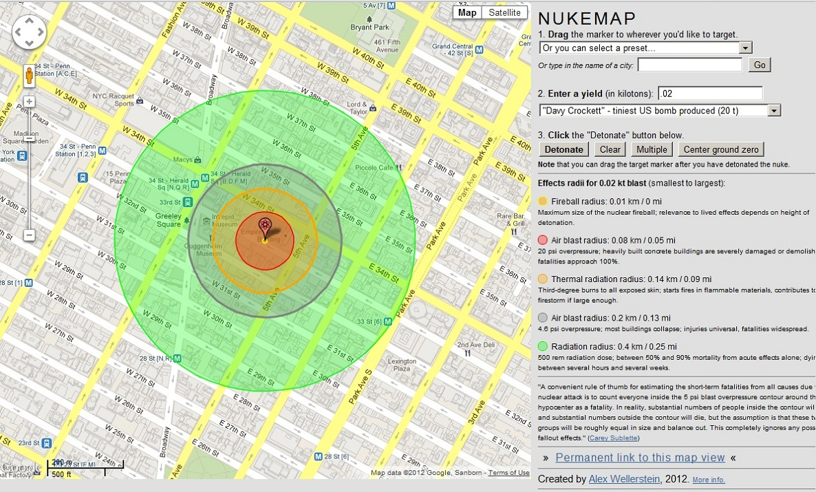 High power rocketry nukemap a simulation showing nuclear nukemap a simulation showing nuclear explosions on google maps sciox Choice Image