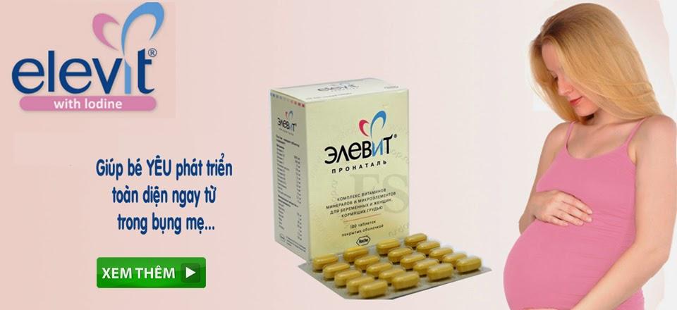 Elevit Vitamin tổng hợp cho phụ nữ mang thai