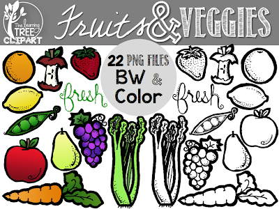 http://www.teacherspayteachers.com/Product/Fruit-Veggie-Clipart-Set-FREEBIE-1043076