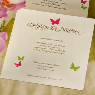 Carte mariage diner