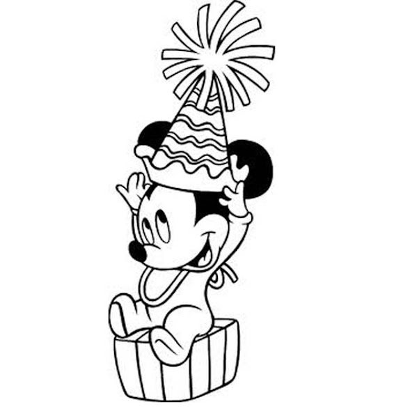 Minnie Mouse Hat Coloring Page