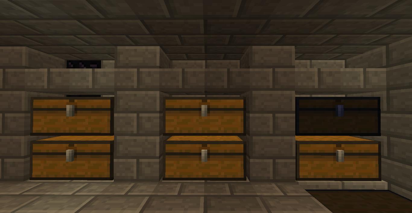 Sala De Estar Minecraft ~ Sala de baús