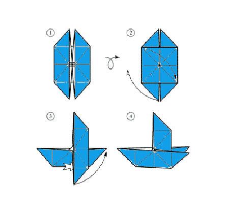бумажный кораблик схема