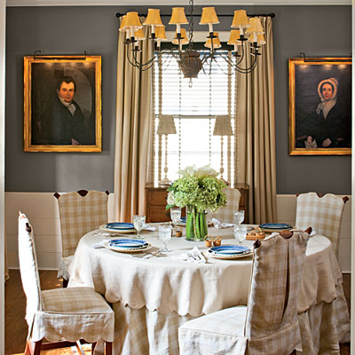 Mix and chic home tour a cape cod style cottage in atlanta for New england dining room ideas