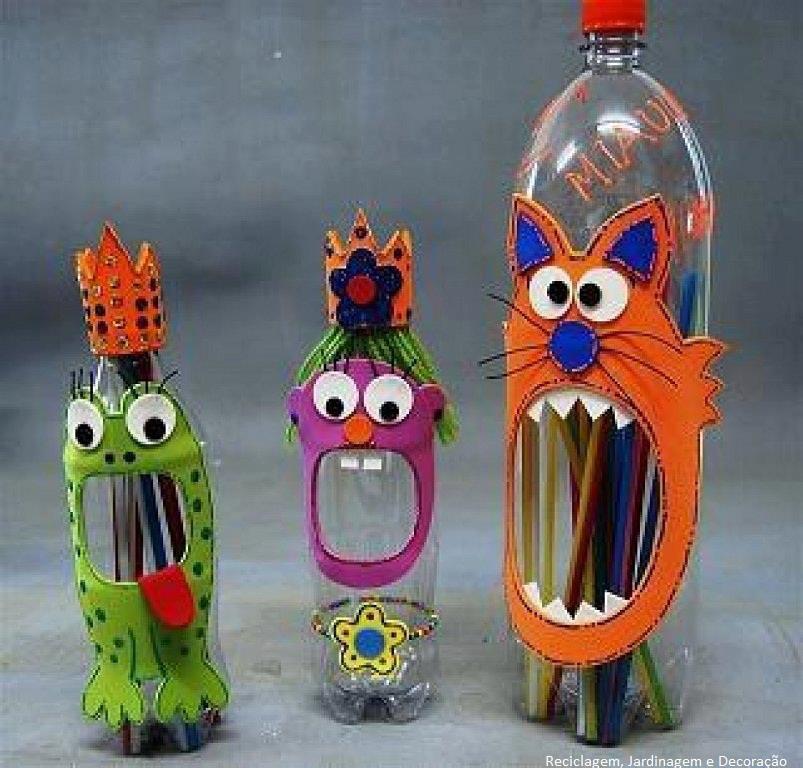 Поделки из бутылок пластиковых своими руками для школы