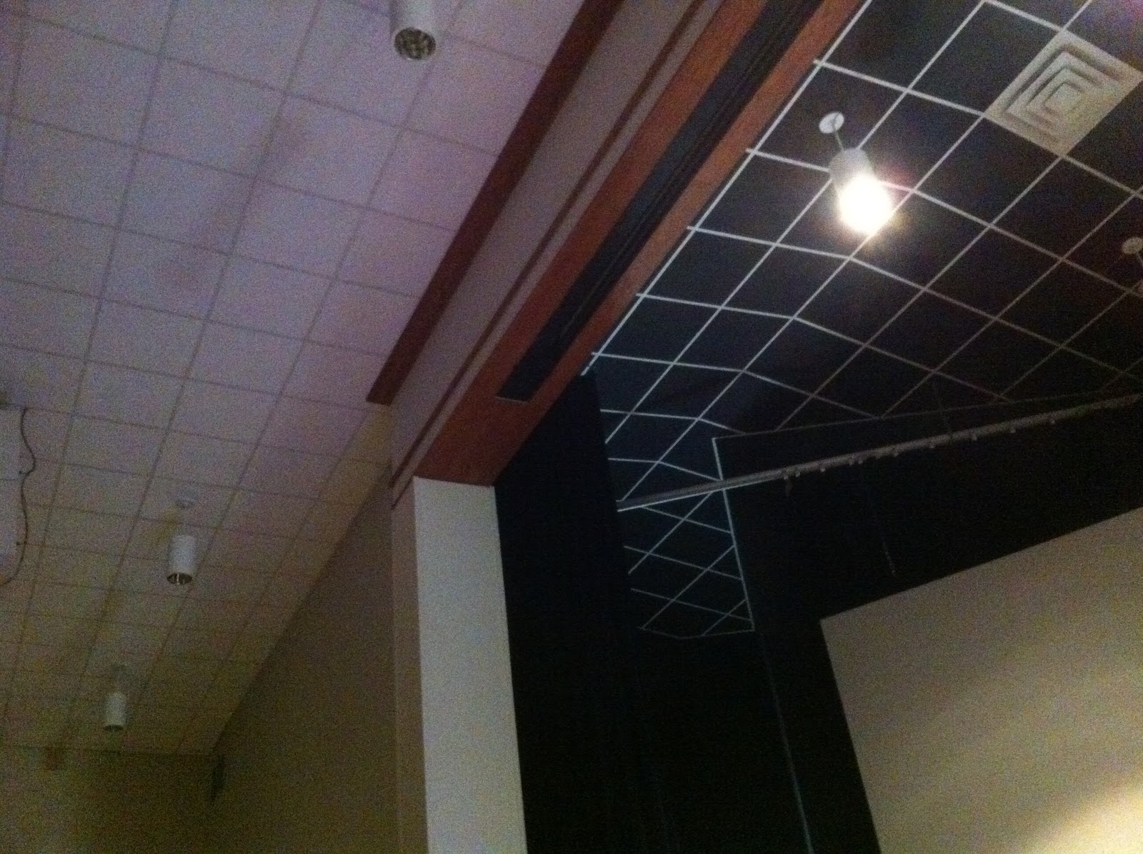 Worship macgyver painting walls and ceiling tiles changed our painting walls and ceiling tiles changed our whole stage dailygadgetfo Gallery