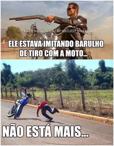 Barulho de tiro com a moto