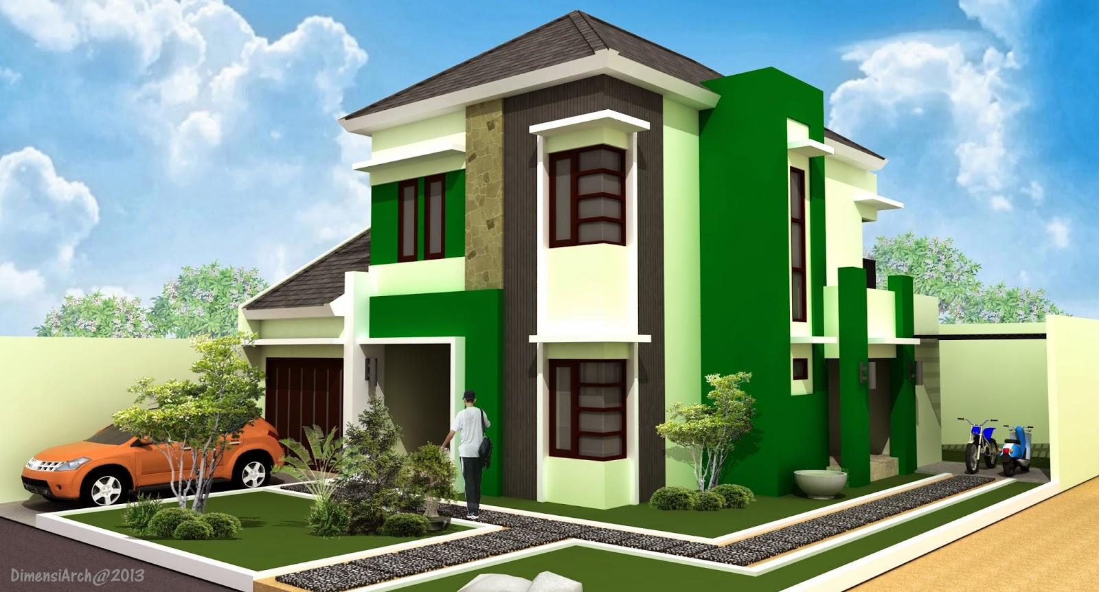 DIMENSI Arch Rumah Tinggal 2 Lantai Modern Minimalis Hook & 102 Desain Rumah Minimalis Modern Posisi Hook | Gambar Desain ...